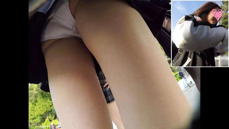 【Pcolleレビュー】みみっくさん [顔出しJK35][夢の国16]集団で歩くお揃コーデJKちゃん。風にはためくスカートの中の生P。【動画有り】